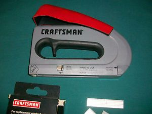 Craftsman Easy Fire Stapler Nail Gun Staples Nails Owners Manual