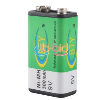 New Durable 9V 9 Volt 300mAh BTY Ni MH Battery Rechargeable Battery