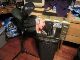 Rode NT1 A Condenser Microphone Vocal Recording Studio with Stand S 698813000722