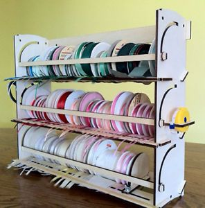 Ribbon Storage Rack Organizer Holder 80 Spools