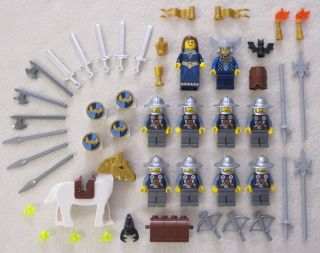 10 New Lego Castle Knight Minifig Lot Figures Crown People Viking Minifigures