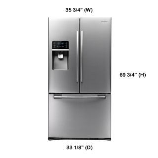 Samsung RFG298HDRS 29 CU ft French 3 Door Refrigerator Stainless Steel 1940