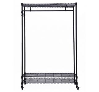 "47""w Garment Rack Closet Portable Wardrobe Clothing Organizer Wire Shelving New"
