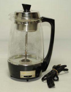 Vtg Proctor Silex Inc Electric Percolator Coffee Maker Glass w Stars 575 w 70503