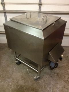 Commercial Lard Cooker Melting Pot Kettle 240V 1PHASE 2 Thermostats on Wheels