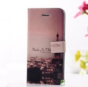 Paris Eiffel Tower Leather Case Cover for iPhone 5