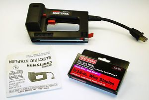 "Craftsman Electric Stapler Model 193 684770 Manual One Pack 5 16"" Staples"