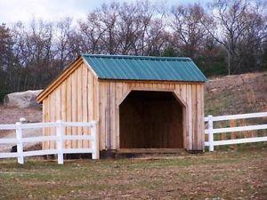 DIY Plans 10x14 Run in Storage Shed Horse Donkey Goat Shelter Quad ATV Storage