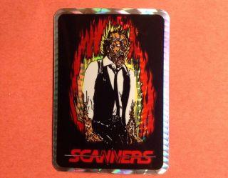 "RARE Vintage ""Scanners"" Horror Movie Vending Machine Prism Sticker"