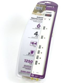 Prime 6 Outlet 1250 Joule Surge Protector PB803109