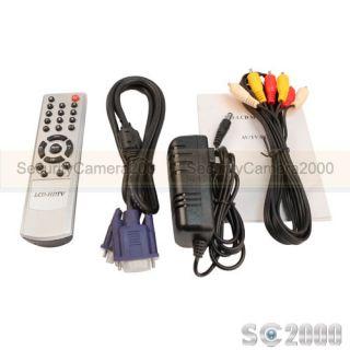 High Resolution 10 2inch TFT LCD Video Audio Color CCTV Monitor TV VGA RCA Input
