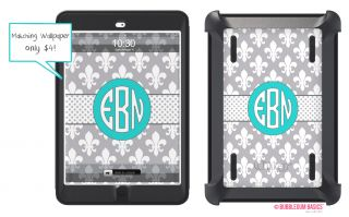 Fleur Custom Personalized Otterbox® Defender Series iPad Mini Case