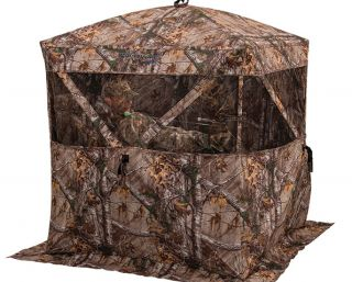 Carnivore Ground Blind for Hunting Deer Am 2120 Realtree Camo Covered Ameristep