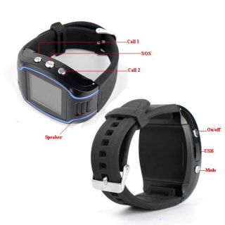 GPS Tracker Wrist Watch GSM GPRS Security Surveillance Quad Band SOS Cell Phone