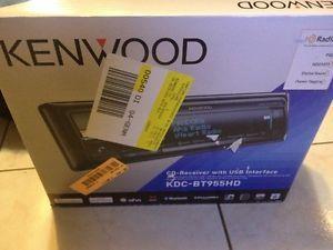 Kenwood KDC BT955HD Sirius XM USB Bluetooth HD Radio iPod iPhone Car Receiver