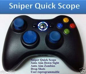 MW3 Xbox 360 Rapid Fire Modded Controller Sniper Quick Scope Cod Drop Shot Blue