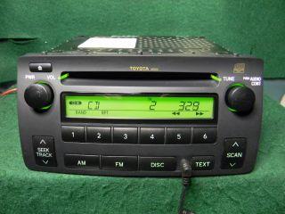 04 08 Toyota Corolla CD Radio MP3 iPod Aux Audio SAT 86120 02430 Warranty
