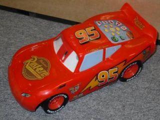 "10"" Disney Pixar Lightning McQueen Electronic Talking Toy Car in Good Condition"