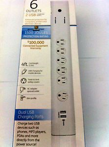 Advanced General Electric Surge Protector with USB Charging