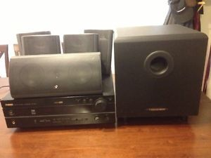 Surround Sound Home Audio System Yamaha Receiver and Cerwin Vega Speakers
