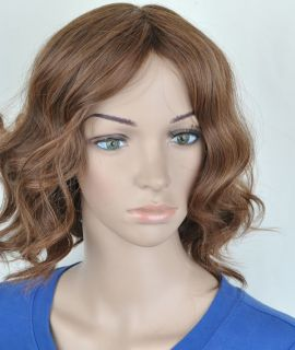Sexy Woman Girl Medium Wavy Everyday Full Party Wigs Hair with Wig Cap PD92