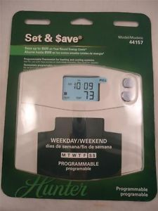 Hunter Programmable Thermostat Model 44157 New