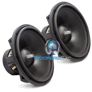 "Pair of Z 18 V 3 D1 Sundown Audio 18"" Subs 3000 Watt RMS Dual 1 Ohm Subwoofers"