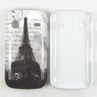 White Paris Eiffel Tower Envelope Hard Cover Case for Samsung Galaxy Gio S5660
