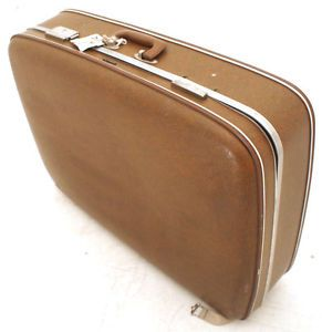 Vintage TopFlite Hard Suitcase Overnight Weekend Case Retro Travel Luggage