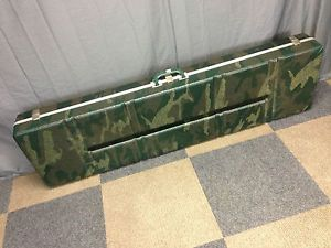 Vtg Universal Plastic Camo Compound Bow Rifle Hunting Storage Hard Case 56x15x6""