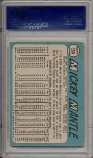 1965 Topps Mickey Mantle 350 HOF PSA 8 NM MT