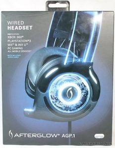 PDP Afterglow AGP 1 Wired Headset Universal Headset for Xbox 360 PS3