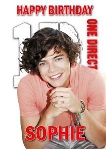 Personalised One Direction Harry Styles Birthday Card