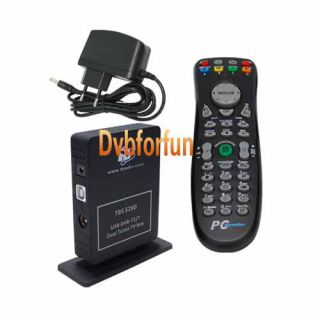 TBS5280 DVB T2 T Dual Tuner Freeview HD USB TV Box for Laptop Desktop