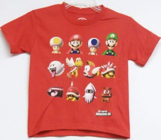Nintendo Super Mario Brothers Wii T Shirt Boys s Red New