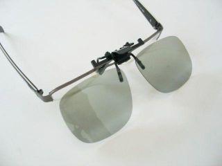 Passive Clip on Circular Polarized Lens Plastic Digital 3D Glasses Eyeglass