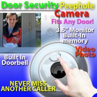 Doorbell Peephole Spy Door Pinhole Camera Wireless Monitor Caller Memory