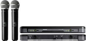 Shure PG288 PG58 Dual Vocal Wireless Microphone System