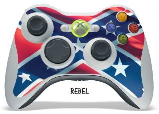 Skin Decal Sticker Cover Fits Xbox 360 Controller Original Slim Rebel Flag New