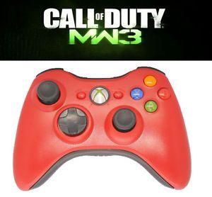 Red 10MODE Xbox 360 Modded Rapid Fire Controller COD8 Modern Warfare 3 Black Ops