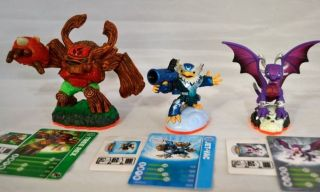 Lot of 3 Skylander Giant Tree Rex Cynder Jet Vac Fit Xbox PS3 Wii Wiiu 3DS