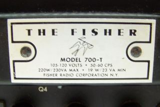 Vintage The Fisher 700T 700 T Solid State Transistor FM Radio Receiver