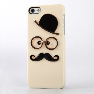 New Leon Chaplin Dumb Show Sexy 3D Gentleman Mustache Case Cover for iPhone 5 5g