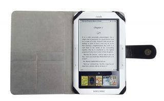 Barnes Noble 1st Edition eBook Nook Leather Case Cover Jacket Skin BK07