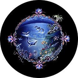 Undersea Custom Spare Tire Cover Wheel Cover