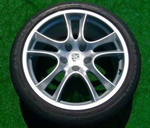4 New Genuine Porsche Cayenne GTS Turbo 21 inch Sport Wheels Michelin Tires