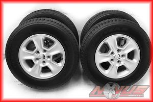 """17"""" 2013 Jeep Grand Cherokee Factory Silver Wheels Goodyear Tires 18 20 2013"""