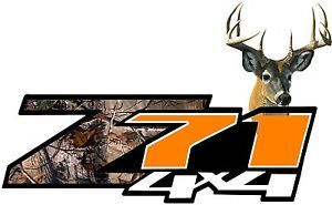 Set of Z71 Off Road 4x4 Deer Realtree Orange Camo Truck Decals