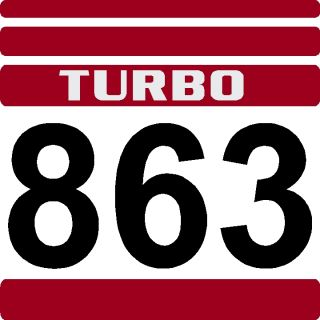 Skid Loader New Decal 863 Red Bobcat Turbo