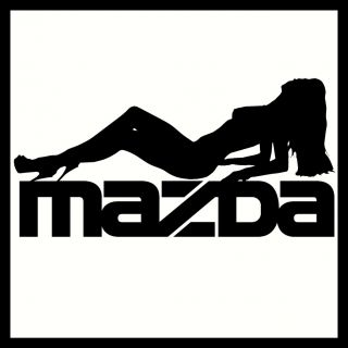 2 x Mazda Vinyl Car Stickers Decals Sexy Funny Custom